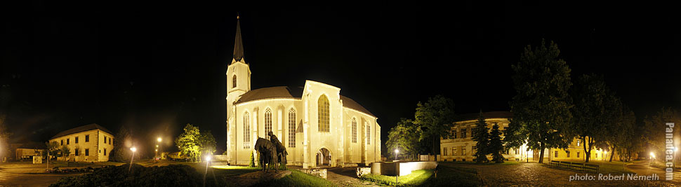 Castle Church - Sárospatak, Ungern - Panorama foto (panoramabild)