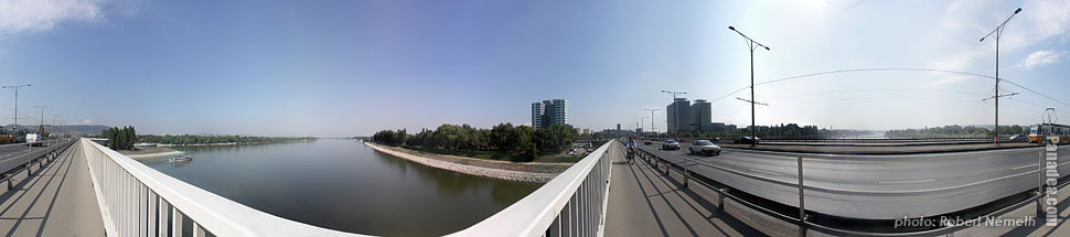 Árpád Bridge - Budapest, Hungary - Panorama photo (panoramic image)
