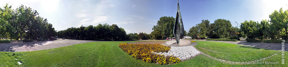 Margaret Island (Margit-sziget), The Centennial Memorial - Budapest, Hungary - Panorama photo (panoramic image)