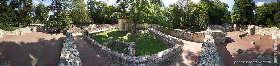 Margaret Island (Margit-sziget), Ruins of the St. Margaret Abbey - Budapest, Hungary - Panorama photo (panoramic image)