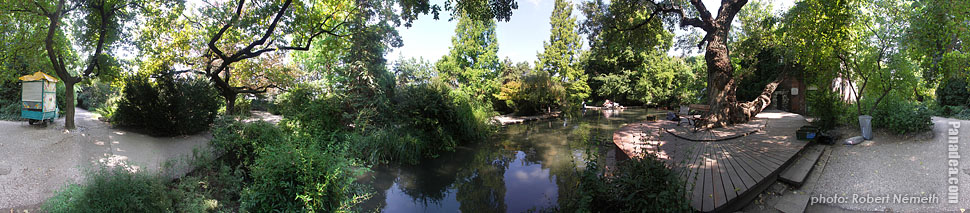 Margaret Island (Margit-sziget), Tiny lake - Budapest, Hungary - Panorama photo (panoramic image)
