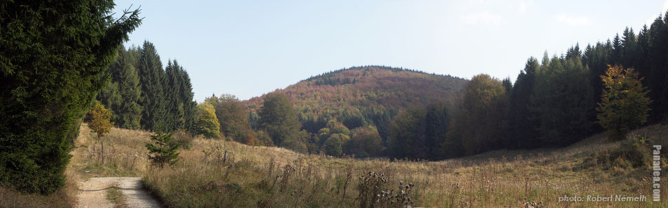 Autumn landscape on the Bükk Plateau - Bükk National Park, Hungary - Panorama photo (panoramic image)