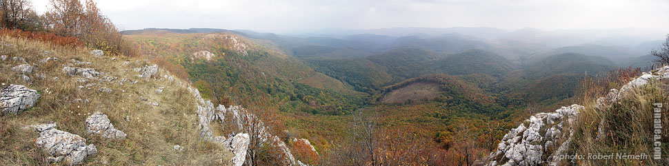 Bükk Plateau, Tar-kő (Bald Rock) - Bükk National Park, Hungary - Panorama photo (panoramic image)