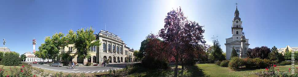 Kossuth Square - Cegléd, Hungary - Panorama photo (panoramic image)