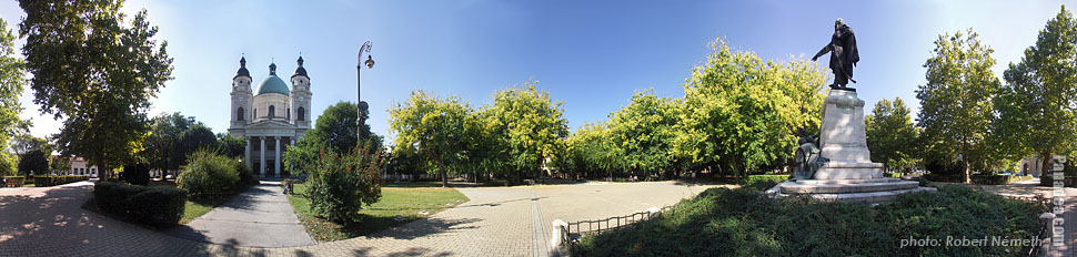 Szabadság Square - Cegléd, Hungary - Panorama photo (panoramic image)