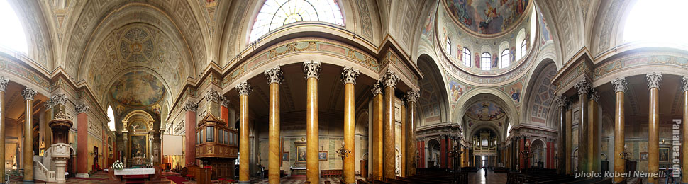 Cathedral of Eger - Eger, Hungary - Panorama photo (panoramic image)