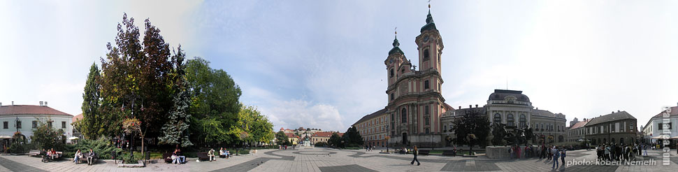 Dobó Square - Eger, Hungary - Panorama photo (panoramic image)