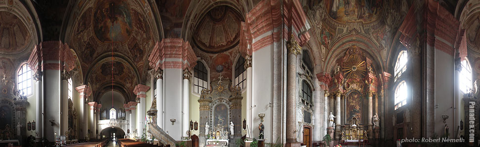 St. Anthony church of the Minorites - Eger, Hungary - Panorama photo (panoramic image)