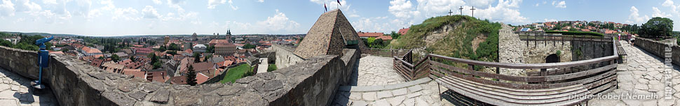 Castle of Eger - Eger, Hungary - Panorama photo (panoramic image)
