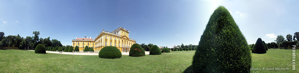 Esterhazy Palace - Fertőd, Hungary - Panorama photo (panoramic image)