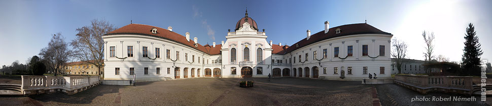 Grassalkovich Palace - Gödöllő, Hungary - Panorama photo (panoramic image)