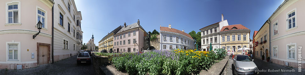 Bécsi Kapu Square - Győr, Hungary - Panorama photo (panoramic image)