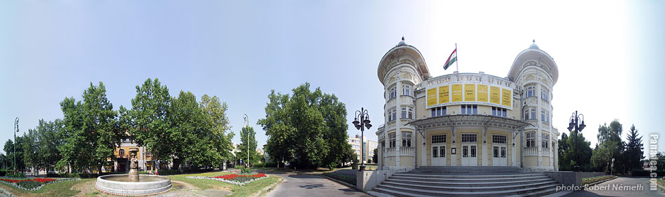 Csiky Gergely Theatre - Kaposvár, Hungary - Panorama photo (panoramic image)