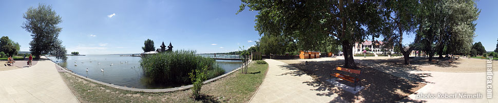 Lakeside of the Balaton - Keszthely, Hungary - Panorama photo (panoramic image)