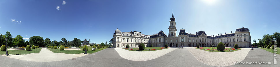 Festetics Palace - Keszthely, Hungary - Panorama photo (panoramic image)