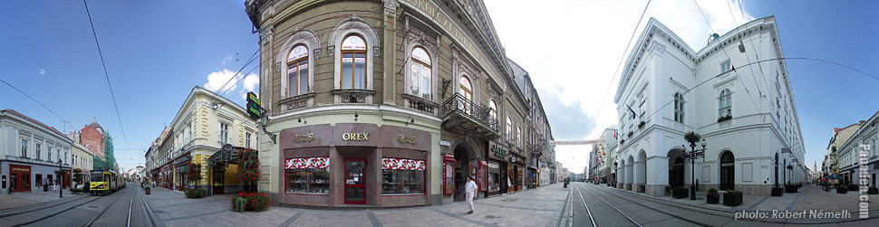 National Theatre of Miskolc - Miskolc, Hungary - Panorama photo (panoramic image)