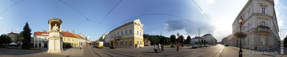 Városház Square - Miskolc, Hungary - Panorama photo (panoramic image)