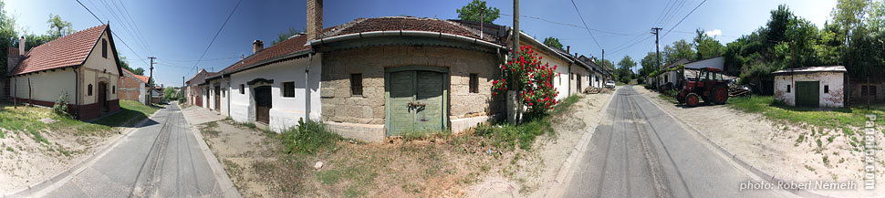 Somlói út, wine cellars - Mogyoród, Hungary - Panorama photo (panoramic image)