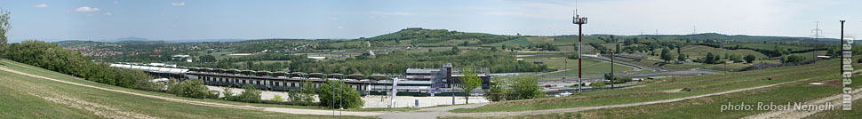 Hungaroring, view from the upper parking lot - Mogyoród, Hungary - Panorama photo (panoramic image)