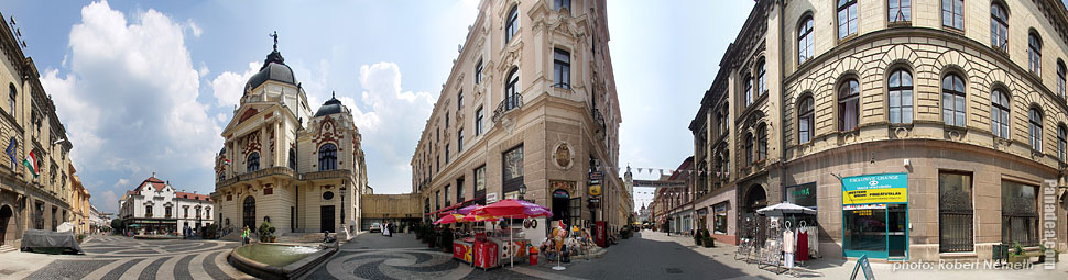 National Theatre of Pécs - Pécs, Hungary - Panorama photo (panoramic image)