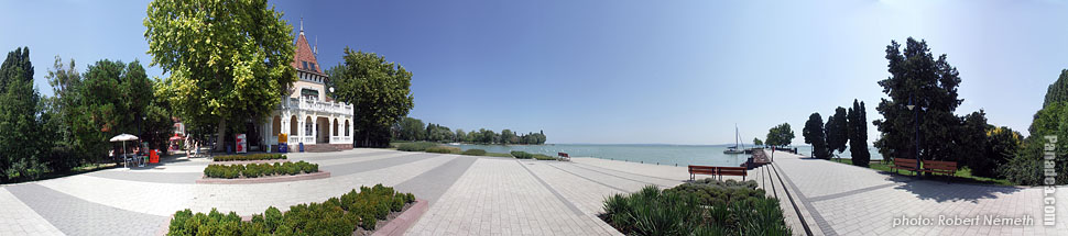 Lakeside of the Balaton - Révfülöp, Hungary - Panorama photo (panoramic image)