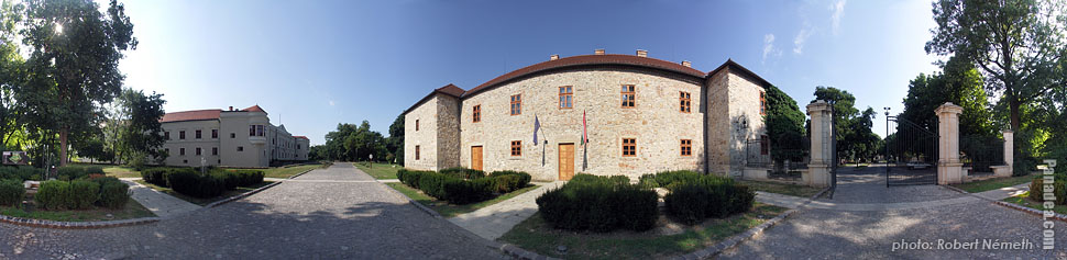 Castle of Sárospatak or Rákóczi Castle - Sárospatak, Hungary - Panorama photo (panoramic image)