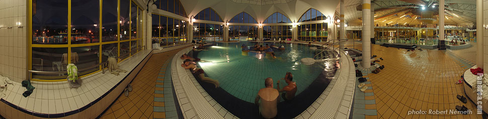 Thermal bath - Sárvár, Hungary - Panorama photo (panoramic image)