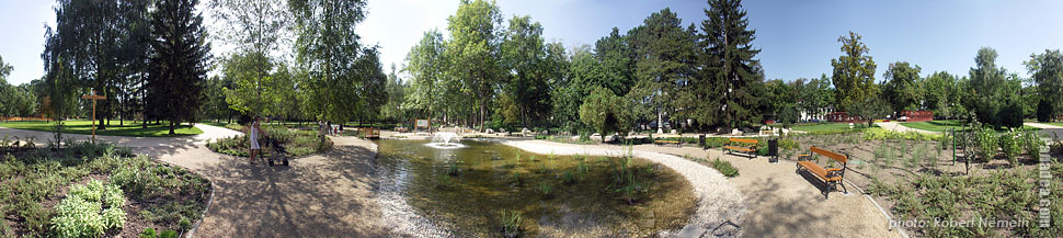 Jókai Park - Siófok, Hungary - Panorama photo (panoramic image)