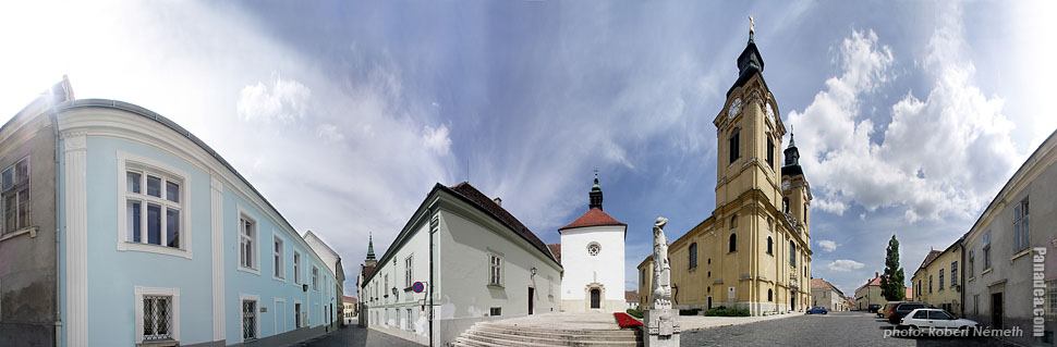 Roman Catholic Episcopal Cathedral of King St. Stephen - Székesfehérvár, Hungary - Panorama photo (panoramic image)