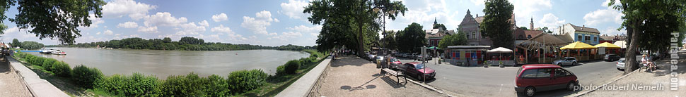 Riverbanks of Danube - Szentendre, Hungary - Panorama photo (panoramic image)
