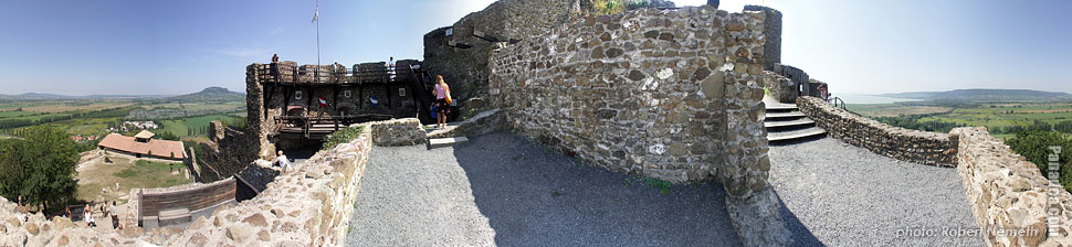 Castle of Szigliget - Szigliget, Hungary - Panorama photo (panoramic image)