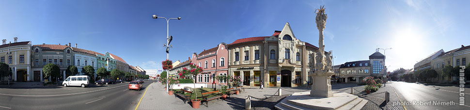 Fő Square - Tapolca, Hungary - Panorama photo (panoramic image)