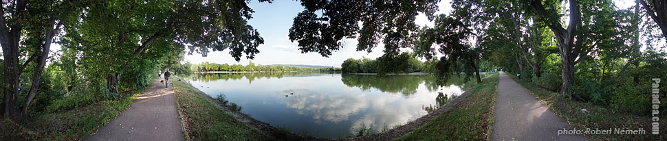 Lake Cseke - Tata, Hungary - Panorama photo (panoramic image)