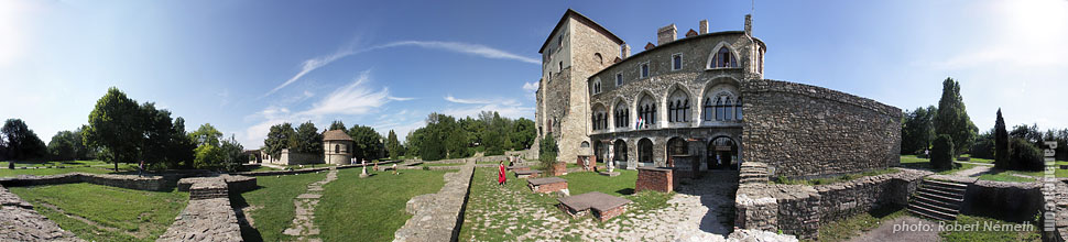 Old Castle - Tata, Hungary - Panorama photo (panoramic image)
