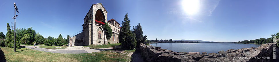 The Old Castle and the Old Lake - Tata, Hungary - Panorama photo (panoramic image)