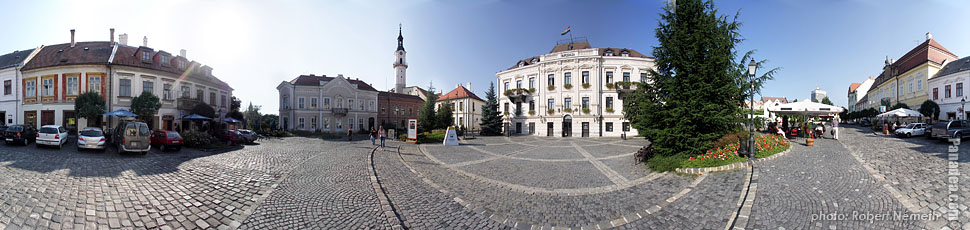 City Hall - Veszprém, Hungary - Panorama photo (panoramic image)