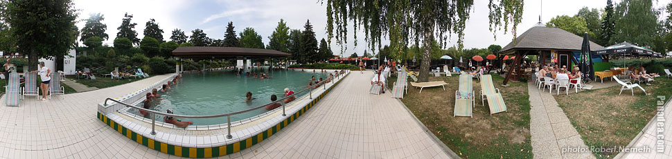Thermal bath - Zalakaros, Hungary - Panorama photo (panoramic image)