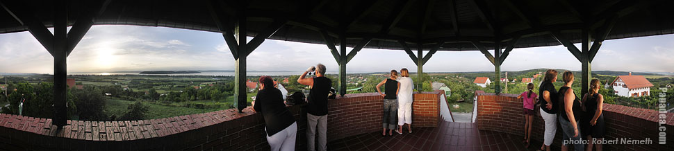 Szamárkő (Kőhegy), Lookout tower - Zamárdi, Hungary - Panorama photo (panoramic image)